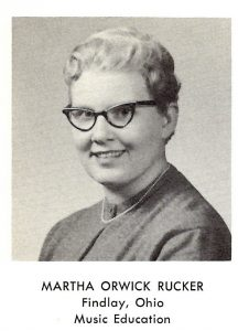 Martha Rucker '60 Avery's yearbook picture.