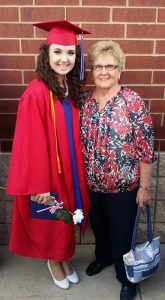 Hannah Brown and her grandmother Martha Avery at Hannah's high school graduation. Martha is a 1960 Bluffton University alumna, and Hannah is a member of the Bluffton University Class of 2020.